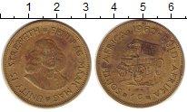 Изображение Монеты ЮАР 1 цент 1962 Латунь XF