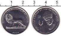 Изображение Монеты Конго 1 франк 2004 Медно-никель XF Визит Папы в Конго