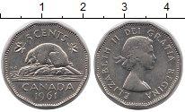 Изображение Монеты Канада 5 центов 1961 Медно-никель XF Елизавета II