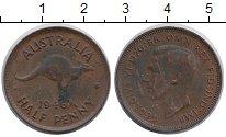 Изображение Монеты Австралия 1/2 пенни 1946 Медь XF