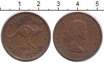 Изображение Монеты Австралия 1/2 пенни 1960 Медь XF