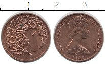 Изображение Монеты Новая Зеландия 1 цент 1980 Медь XF