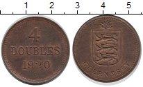 Изображение Монеты Гернси 4 дубля 1920 Медь XF