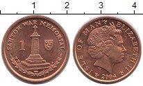 Изображение Монеты Остров Мэн 1 пенни 2004 Медь XF