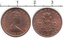 Изображение Монеты Остров Мэн 1/2 пенни 1971 Медь UNC-
