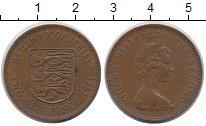 Изображение Монеты Остров Джерси 2 пенса 1971 Медь XF
