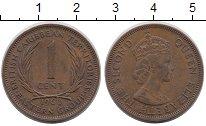 Изображение Монеты Карибы 1 цент 1960 Медь VF