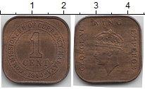 Изображение Монеты Малайя 1 цент 1940 Медь XF