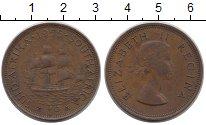 Изображение Монеты ЮАР 1 пенни 1955 Медь XF Елизавета II.