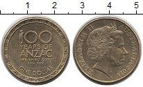 Изображение Монеты Австралия 1 доллар 2014 Латунь XF Елизавета II.  100