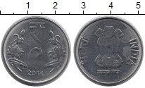 Изображение Монеты Индия 2 рупии 2014 Медно-никель XF