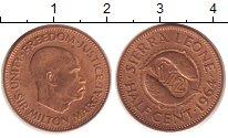 Изображение Монеты Сьерра-Леоне 1/2 цента 1964 Медь XF