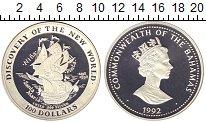 Изображение Монеты Багамские острова 100 долларов 1992 Серебро Proof-