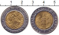 Изображение Монеты Сан-Марино 500 лир 1992 Биметалл UNC