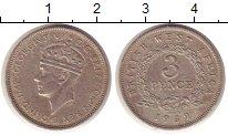 Изображение Монеты Великобритания Западная Африка 3 пенса 1939 Медно-никель XF