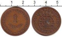 Изображение Монеты Мозамбик 1 эскудо 1965 Медь  Колония Португалии.