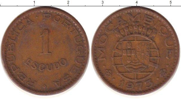 Картинка Монеты Мозамбик 1 эскудо Медь 1973