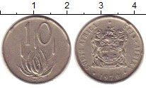 Изображение Монеты ЮАР 10 центов 1970 Медно-никель