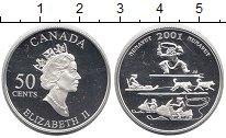 Изображение Монеты Канада 50 центов 2001 Серебро Proof- Нунавут.