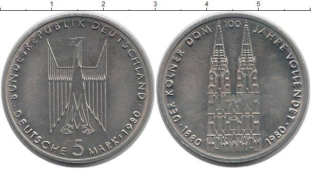 Картинка Монеты ФРГ 5 марок Медно-никель 1980