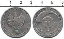 Монета ФРГ 5 марок Медно-никель 1982 XF фото
