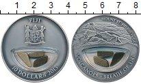 Изображение Монеты Фиджи 10 долларов 2013 Серебро UNC Гора  Святой  Елены.