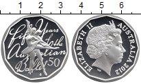 Изображение Монеты Австралия 50 центов 2012 Серебро Proof Елизавета II.  50 -