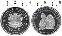 Изображение Монеты Андорра 10 динерс 2009 Серебро Proof