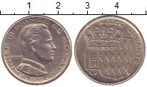 Изображение Монеты Монако 1 франк 1979 Медно-никель XF