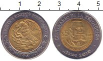 Изображение Монеты Мексика 5 песо 2009 Биметалл XF