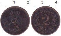 Изображение Монеты Норвегия 2 эре 1876 Медь VF Оскар II.