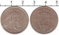 Изображение Монеты Норвегия 1 крона 1951 Медно-никель VF
