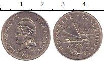 Изображение Монеты Новая Каледония 10 франков 1983 Медно-никель XF