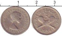 Изображение Монеты Новая Зеландия 3 пенса 1954 Медно-никель XF
