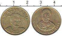 Изображение Монеты Свазиленд 1 лилангени 2008 Латунь XF
