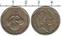 Изображение Монеты Фиджи 1 доллар 1997 Латунь XF