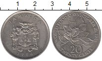 Изображение Монеты Ямайка 20 центов 1986 Медно-никель XF