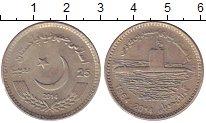 Изображение Монеты Пакистан 25 рупий 2014 Медно-никель XF Подводная лодка