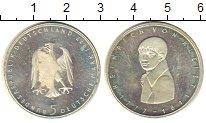 Монета ФРГ 5 марок Серебро 1977 UNC-