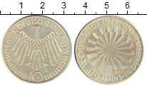 Изображение Монеты ФРГ 10 марок 1972 Серебро UNC- J  Олимпиада 72. Мюн