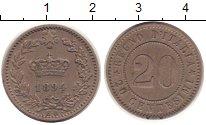 Изображение Монеты Италия 20 чентезимо 1894 Медно-никель XF