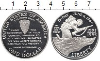 Изображение Монеты США 1 доллар 1993 Серебро Proof Высадка  в  Норманди