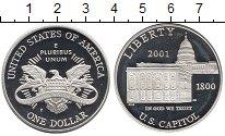 Изображение Монеты США 1 доллар 2001 Серебро Proof
