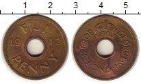 Изображение Монеты Фиджи 1 пенни 1942 Медь XF