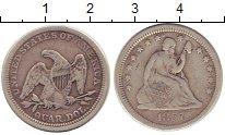 Изображение Монеты США 1/4 доллара 1857 Серебро XF-