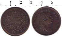 Изображение Монеты Эссекуибо и Демерара 1/2 стивера 1813 Медь XF Георг III.