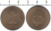 Изображение Монеты Монако 10 франков 1981 Латунь XF