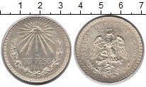 Изображение Монеты Мексика 1 песо 1944 Серебро XF