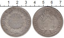 Изображение Монеты Боливия 1 боливиано 1865 Серебро XF