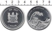 Изображение Монеты Фиджи 1 доллар 2017 Серебро UNC Великая  волна  Хоку